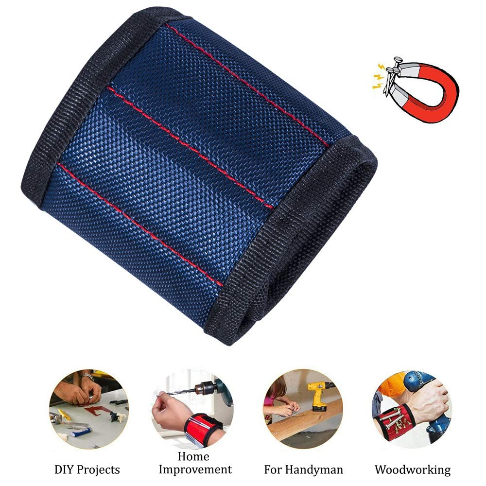 Father//Dad Husband Handyman Magnetic Wristband Boyfriend Nails and Small Tools Drill Bits 10 Powerful Magnets Holding Screws Unique Gift for Electrician Men Women Bolts