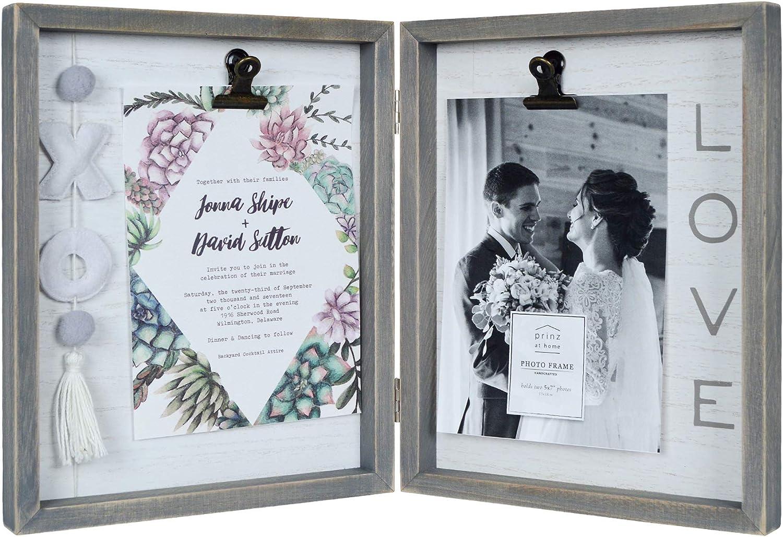 Hand painted embellished 5x7 photo frame
