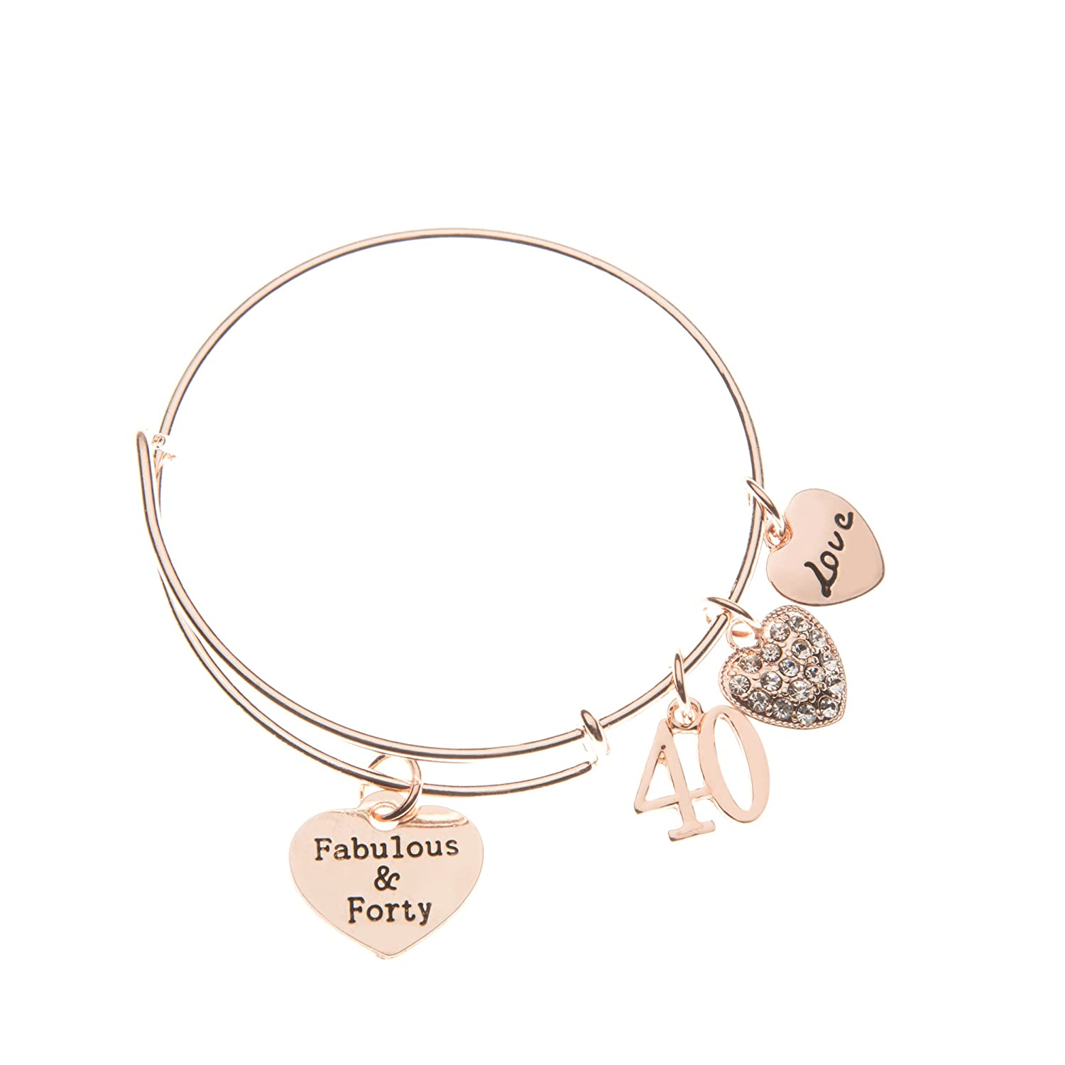 Amazon Infinity Collection 40th Birthday Gifts For Women Rose Gold Expandable Charm Bracelet Ideas Gift Her Jewelry