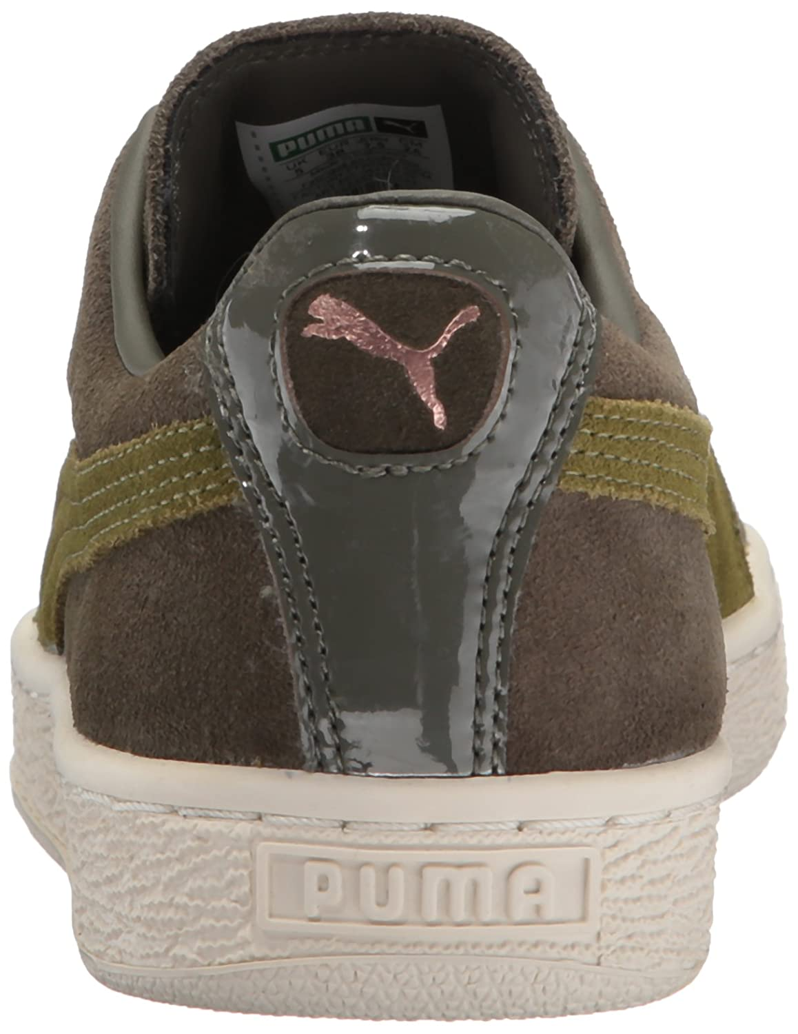 PUMA Womens Suede XL Lace vr Wn Olive Night-Avocado 6 M US