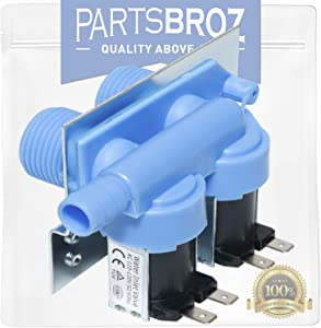 285805 Water Inlet Valve for Whirlpool Washing Machines by PartsBroz - Replaces AP3094541, 285805VP, 292197, 3349451, 3354565, 3360389, 3360392, 358992, 388328, 3952164, 868761, PS334646, W10110517