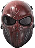 Coxeer Airsoft Mask Scary Skull Outdoor Full Face Mask with Mesh Eye Protection