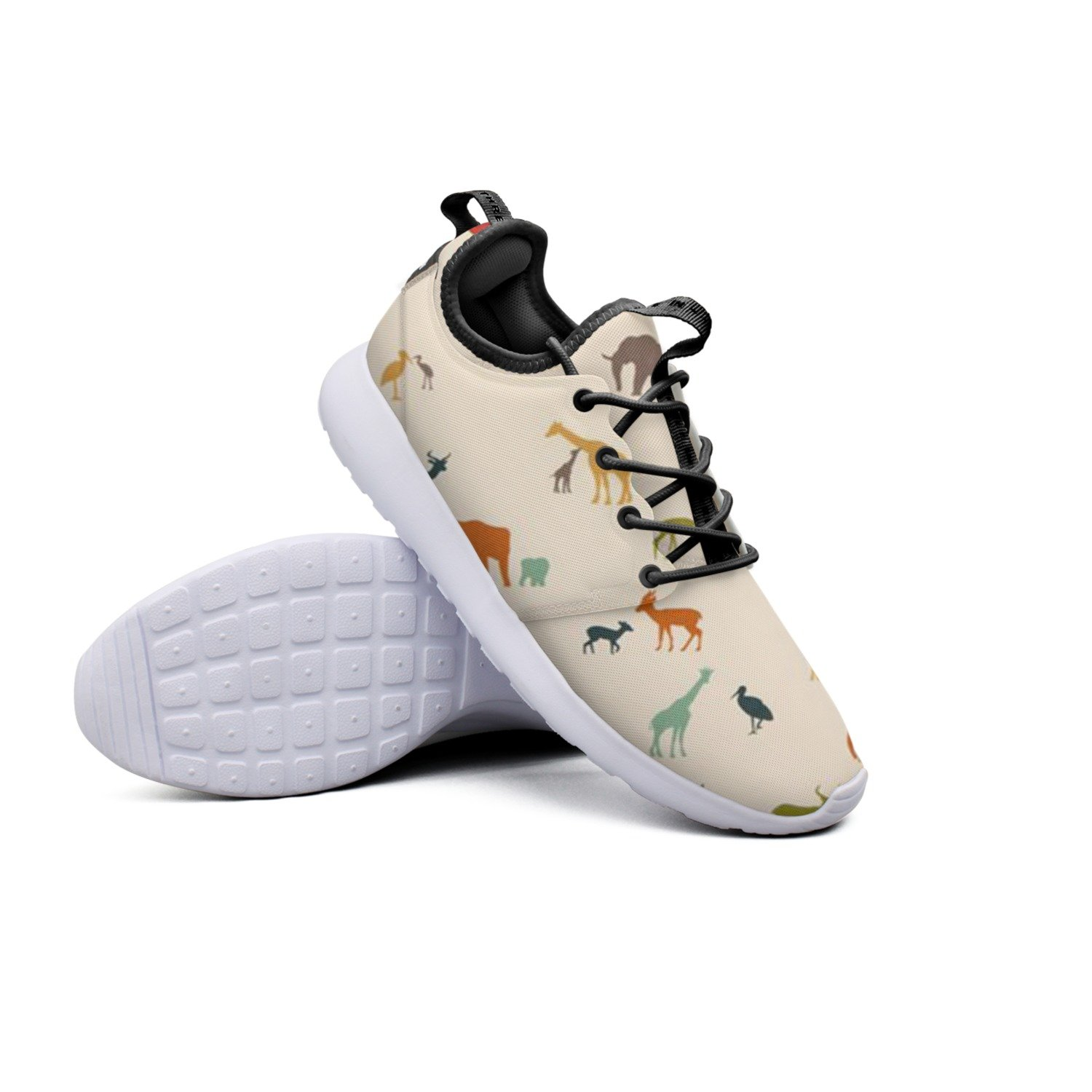 YYuuijk Elephant Giraffe Bird Birch Net Women's Tennis Shoes Casual Cute Comfortable Trendy Hip Hop Retro Retro Vintage Popular Mesh Lightweight Running Sneakers