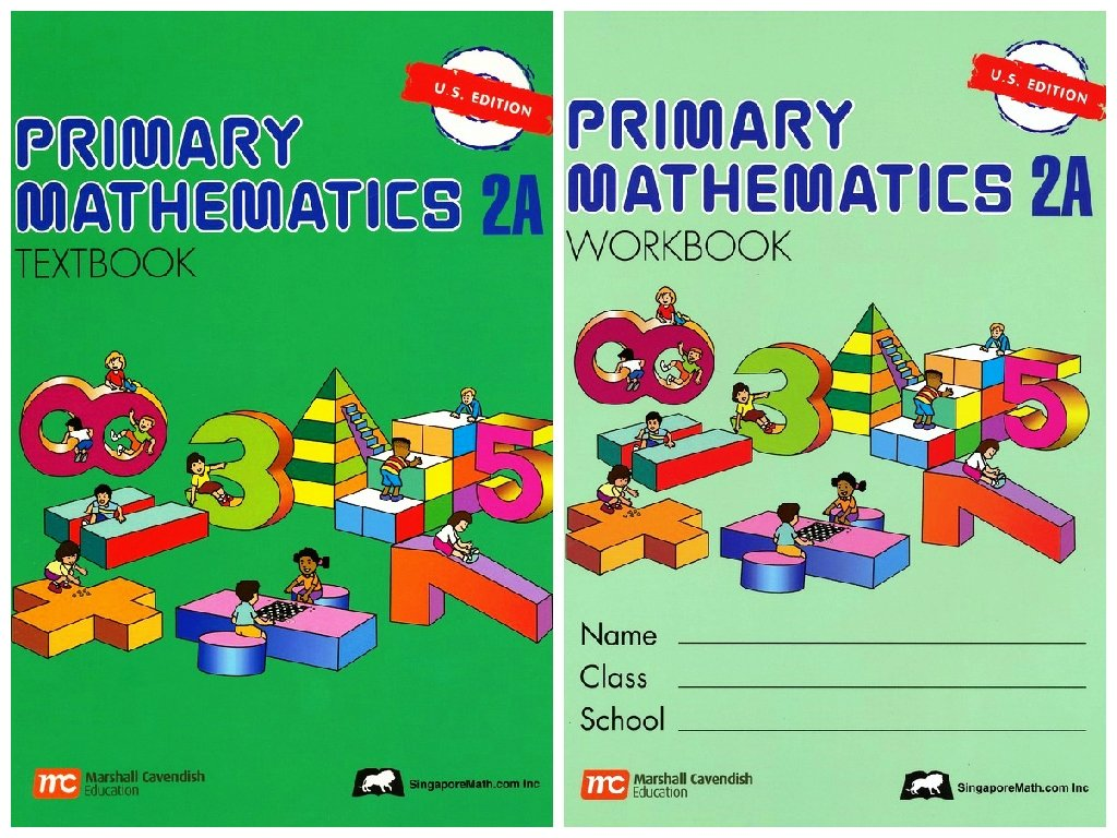 Workbooks primary mathematics workbook : Primary Mathematics 2A SET--Textbook and Workbook: Singapore Math ...