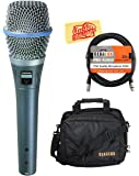 Shure Beta 87A Supercardioid Condenser Vocal Microphone Bundle with Gear Bag, XLR Cable, and Austin Bazaar Polishing Cloth