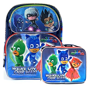 "Disney Junior PJ Mask 16"" School Backpack Bag and Lunch Bag : Were"