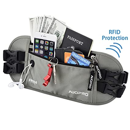 Travel Bum Bag Bumbag Waist Money Belt Passport Wallet Zipped Security Pouch Hot