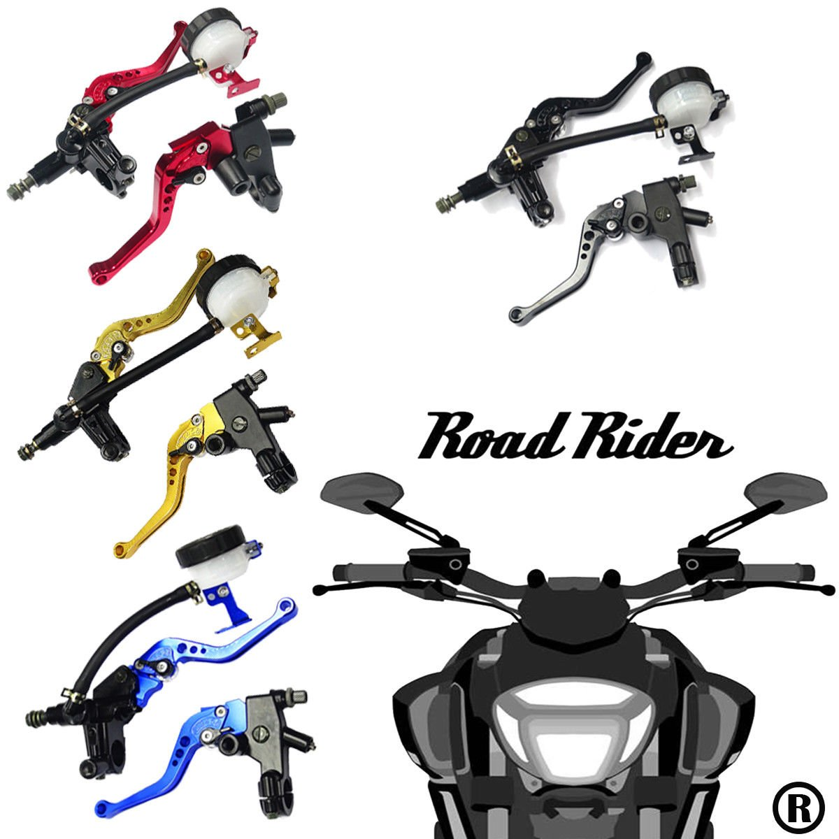 Universal Motorcycle 7/8'' 22mm Standard Handle Bar Adjustment Front Brake Master Cylinder Clutch Lever For Sport Bike/Street Bike/Scooter/Dirt Bike(Red) by How Do You Do (Image #4)