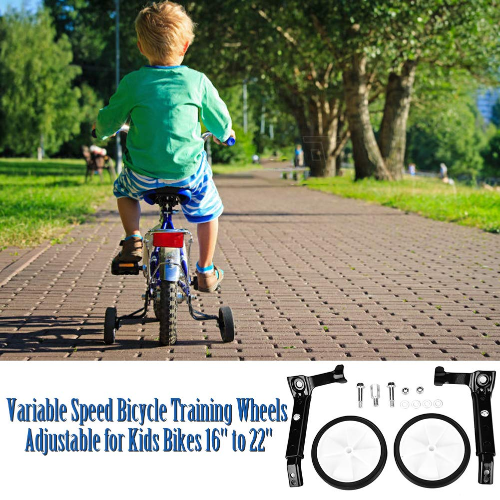 Amazon.com : Bicycle Training Wheels Variable Speed Bicycle Training Wheels Rear Wheel Bicycle Stabilizers Mounted Kit for Children Kids Universal Bike 16 ...
