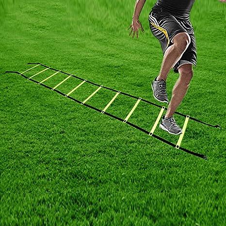 Kosma agilidad velocidad Escalera de formación rápida movientos de 4 metros de largo con bolsa de transporte | Speed escalera para entrenamiento fútbol: Amazon.es: Deportes y aire libre