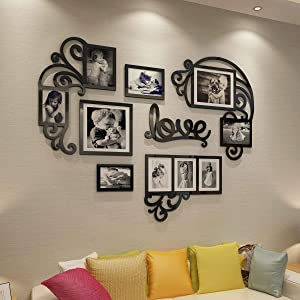 CrazyDeal Collage Picture Frames 3D DIY Wall Decals Decor Art Stickers Pictures Decorations for Living Room Bedroom Kids Dinning Modern Room