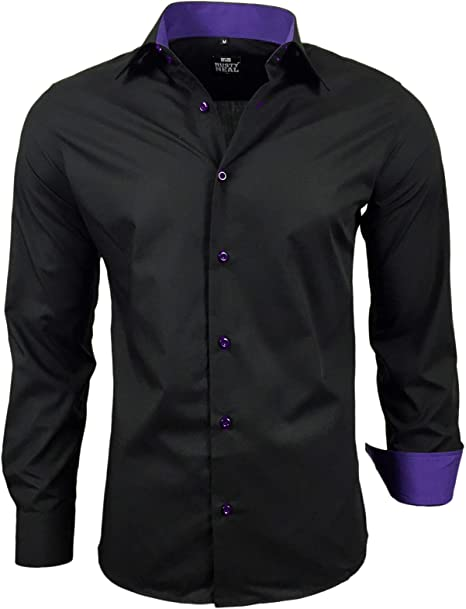 Rusty Neal B5099 – Camisa Business Boda con Corbata S hasta 6 x l ...