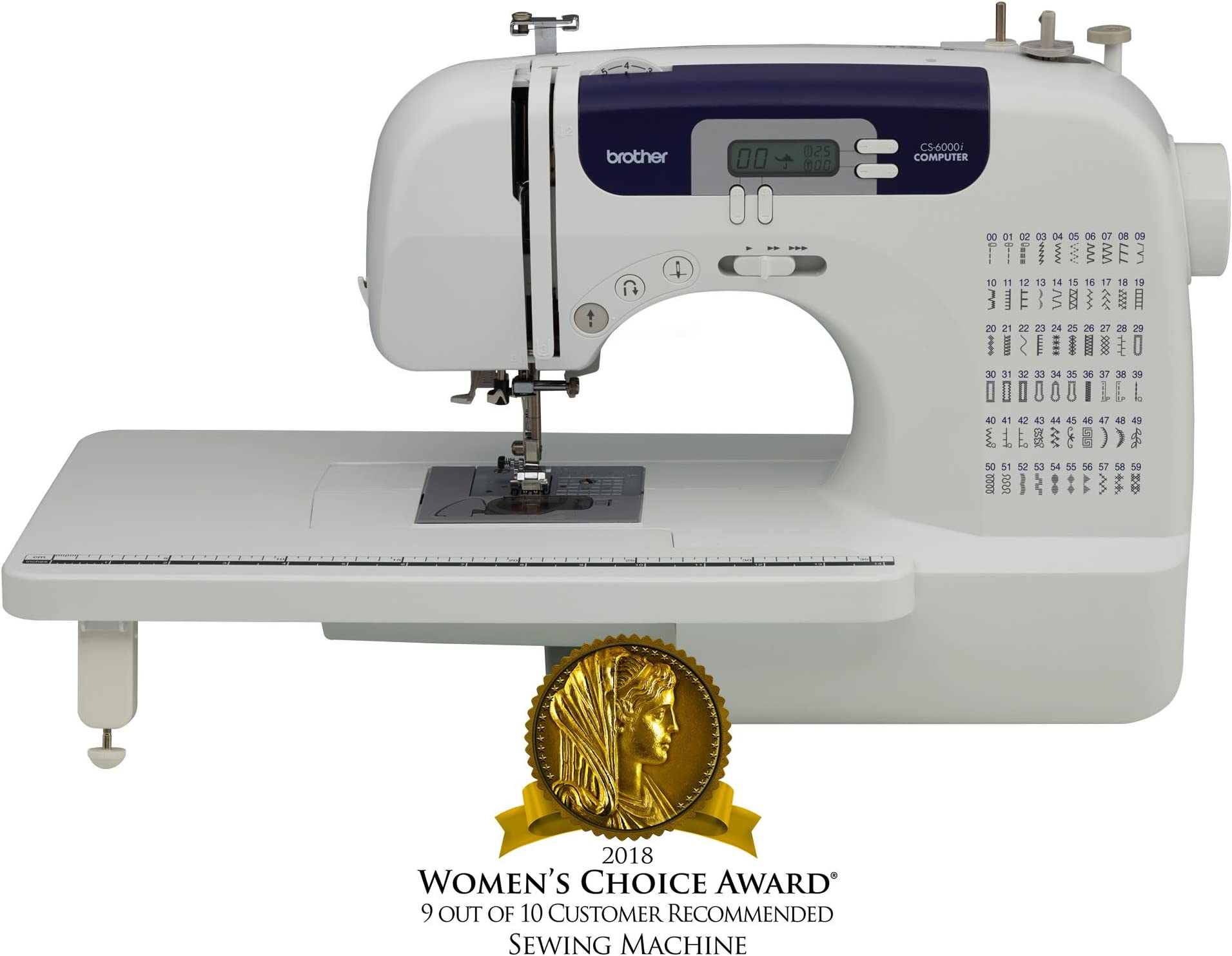 shop amazon com sewing machinebrother sewing and quilting machine, cs6000i, 60 built in stitches, 7 styles