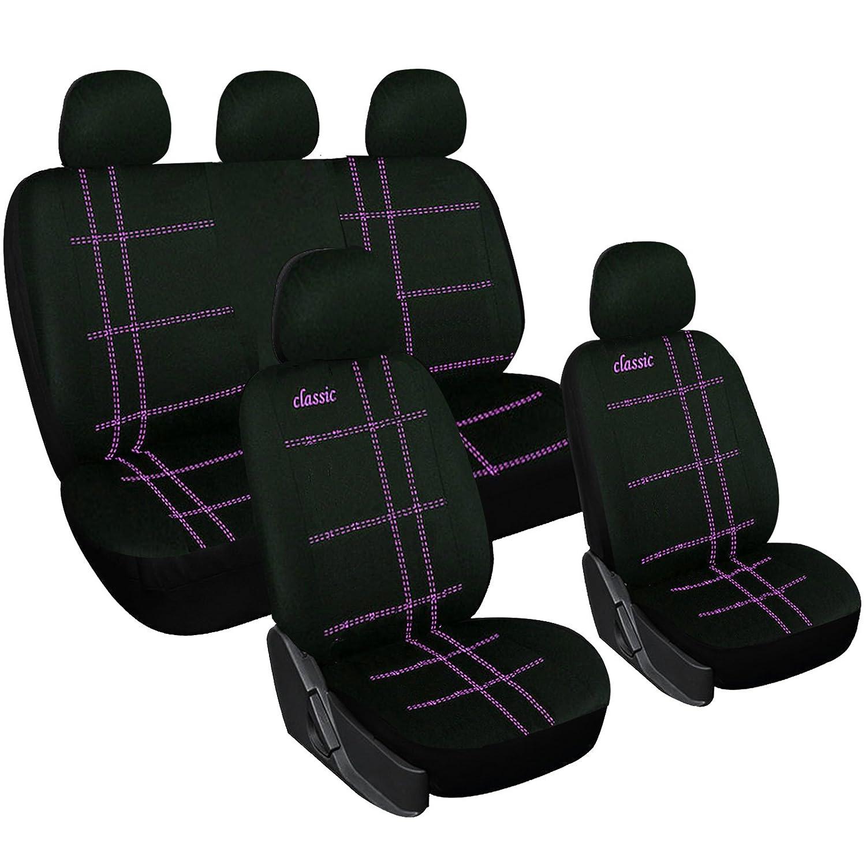 EUGAD 0027QCZT Housses de siège pour Auto Couverture de siège de Voiture Universelle, Noir+Violet