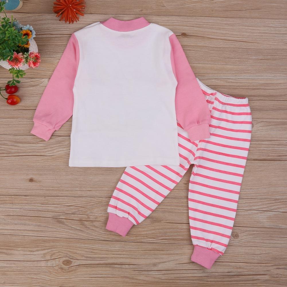 beec0dd9e Silveroneuk 2pcs Kids Baby Pajamas Set Girls Cartoon Sheep Tops ...