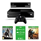 Xbox One Console with Kinect, Titanfall, Destiny and Xbox Live 12 Month Membership