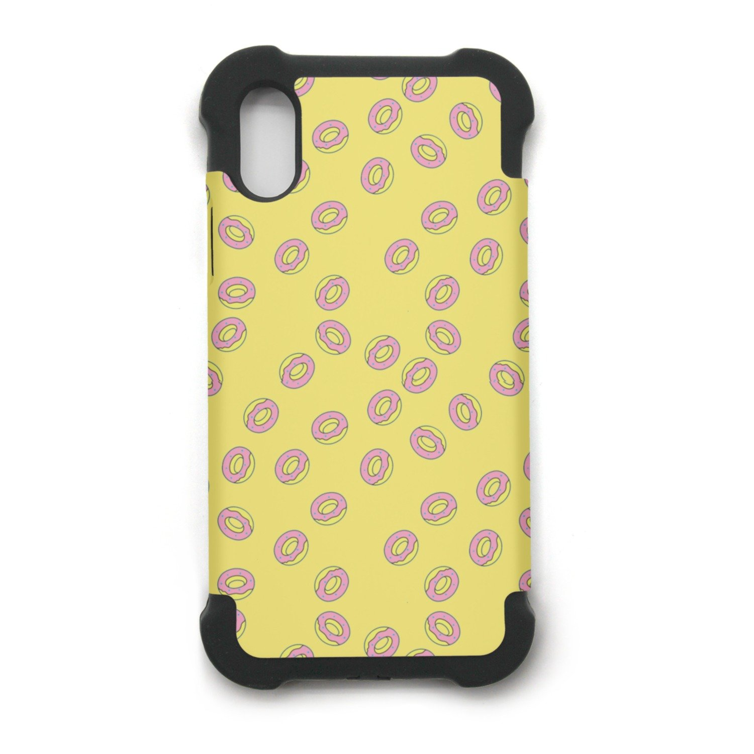 Donut Cookies Printing IPhone X Case Plate And Soft TPU/Shock Proof/Anti-Finger Double Protection Phone Back Case Cover For IPhone X