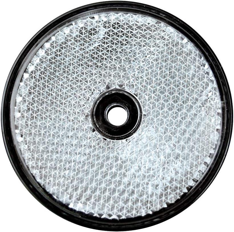 2 St/ück zum Schrauben 60 mm Rund Wei/ß TFA 88201 Reflektor