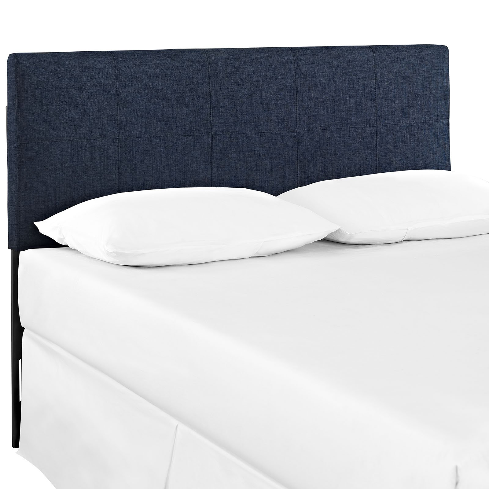 Modway Oliver Linen Fabric Upholstered Queen Headboard in Navy by Modway
