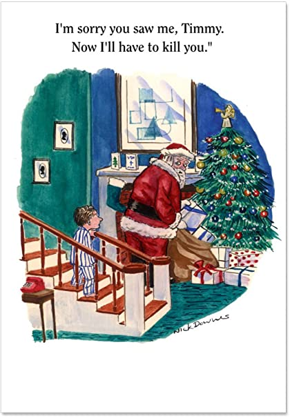 b1603 box set of 12 im sorry timmy unique funny christmas cards with envelopes - Unique Photo Christmas Cards