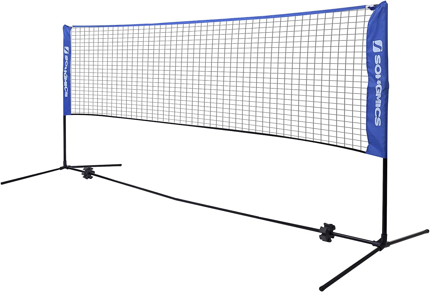 SONGMICS Badminton Net Set, Portable Sports Set for Badminton, Tennis, Kids Volleyball, Pickleball, Easy Setup, Nylon Net with Poles for Indoor Outdoor Court : Sports & Outdoors
