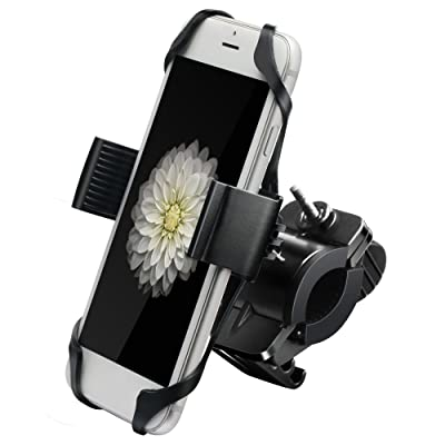 IPOW Metal Bike & Motorcycle Cell Phone Mount, with Unbreakable Metal Handlebar Holder for Bicycle, Motorbike, ATV. Fits iPhone, Samsung or Any Smartphone/GPS