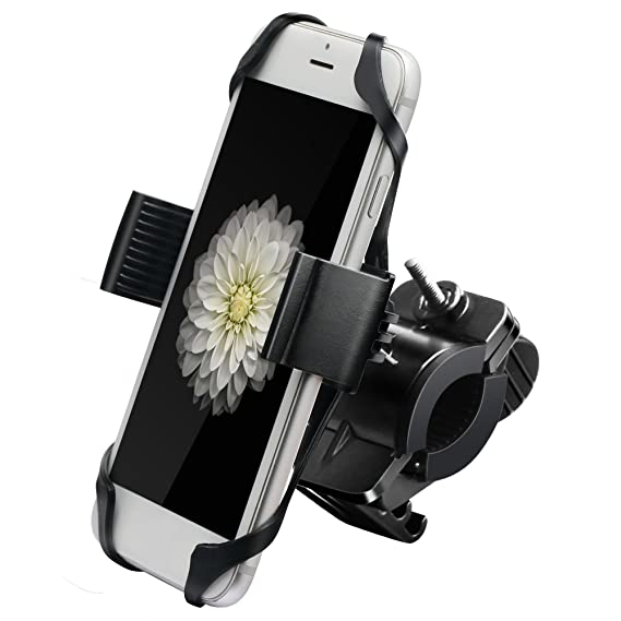 innovative design c6e5e 6fab9 IPOW Metal Bike & Motorcycle Cell Phone Mount, with Unbreakable Metal  Handlebar Holder for Bicycle, Motorbike, ATV. Fits iPhone, Samsung or Any  ...