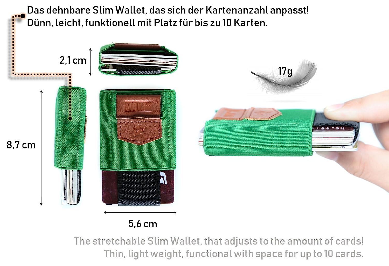 Premium Slim Wallet Mit Zugband Münzfach Das Dehnbare