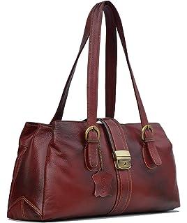 4ae84f29c GenWayne leather handbags for women cum shoulderbag (pure leather bag)  (Wine Red)