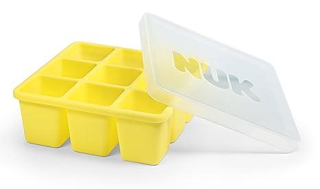 NUK 10255257 - Molde para congelar comida de bebé (9 porciones de 60 ml, se pueden descongelar por separado, sin BPA, 1 unidad)