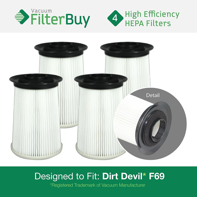 ファッションなデザイン 4 - Clean Dirt Devil F-69 fit (F69) HEPA Vision Replacement Filters, Part 440002214. Designed by FilterBuy to fit Dirt Devil Clean Vision Bagless Upright Vacuum Model UD40335 B01N95SUJ7, Cieljewellery:95bf00cb --- b2b.casemyway.com