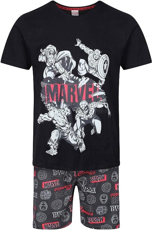 Set de Pijama para Hombre - Superhéroes - Marvel y Batman