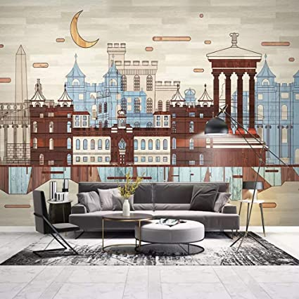 LANYU Carta da Parati Definizione Foto 3D Architettura Città Murale ...