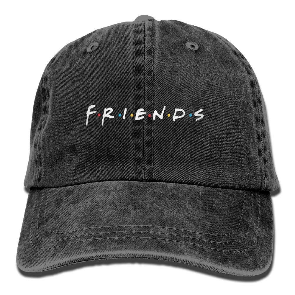 Wagroo Friends TV Show Adult Hats Unisex Fashion Plain Cool Adjustable Denim Jeans Baseball Cap Cowboy