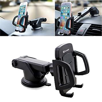 TecHERE HoldIt – Soporte universal para teléfono móvil para coche con ventosa compatible con iphone X