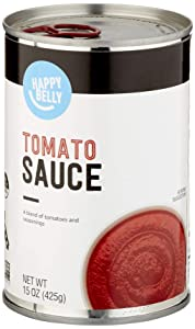 Amazon Brand - Happy Belly Tomato Sauce, 15 Ounce