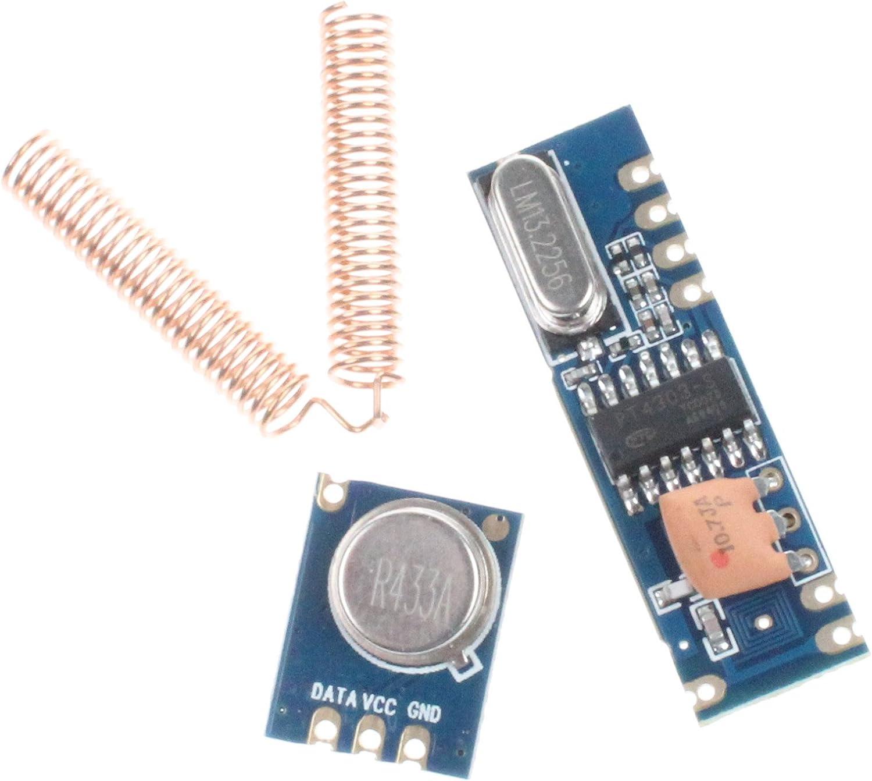 433MHz 100 Meters ASK Module Kit RFX882 Transmitter/&SRX882 Receiver Antenna ` OJ