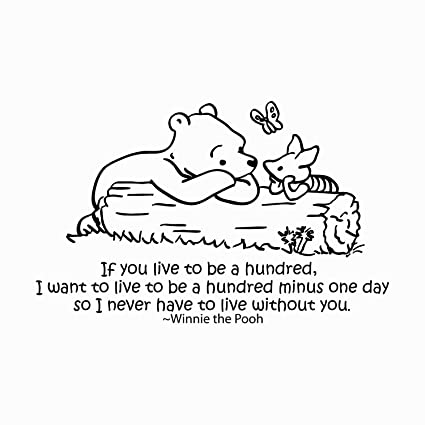 Amazoncom Winnie The Pooh Quote Wall Decal Vinyl Sticker Decals