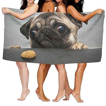 """Pug toallas de baño de playa Baño Cuerpo Ducha Toalla, 31.5 """"x 51.2"""""""
