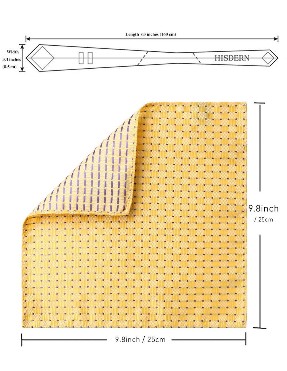 Graven Men Tie Pocket Square Classic Party Wedding 3.4 Silk Fashion Mens Extra Long Tie XL Necktie Handkerchief Set #C0 Color: C014