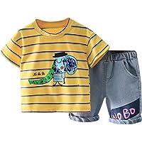 Conjunto de 2 piezas de ropa de niño lindo bebé niño conjunto de trajes de verano para 1-6 años impresión dinosaurio…
