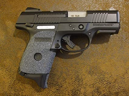 Sand Paper Pistol Peel and Stick Grip Enhancements for Ruger SR9C and SR40C  Without Trigger Guard Laser