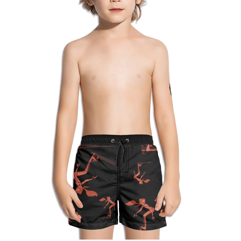 Ouxioaz Boys Swim Trunk Cartoon Skateboarding Beach Board Shorts