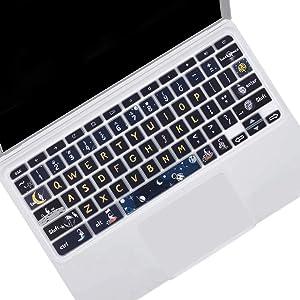 Keyboard Skin Cover for Chromebook R 11 CB5-132T CB3-131,Acer Premium R11, Acer Chromebook R 13 CB5-312T, Acer Chromebook 14 CB3-431 CP5-471,Acer Chromebook 15 CB3-531 CB5-571 C910, Spaceman