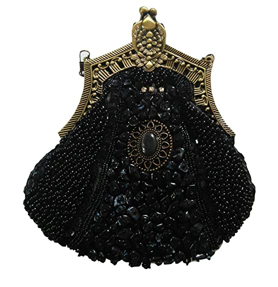 1920s Handbags, Purses, and Shopping Bag Styles Bywen Womens Vintage Beaded Purse Party Clutch Shoulder Bags $29.27 AT vintagedancer.com