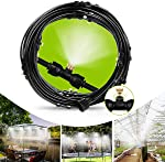 IWONGO Outdoor Cooling Misting System - Misting Line 59FT(18M) with 26