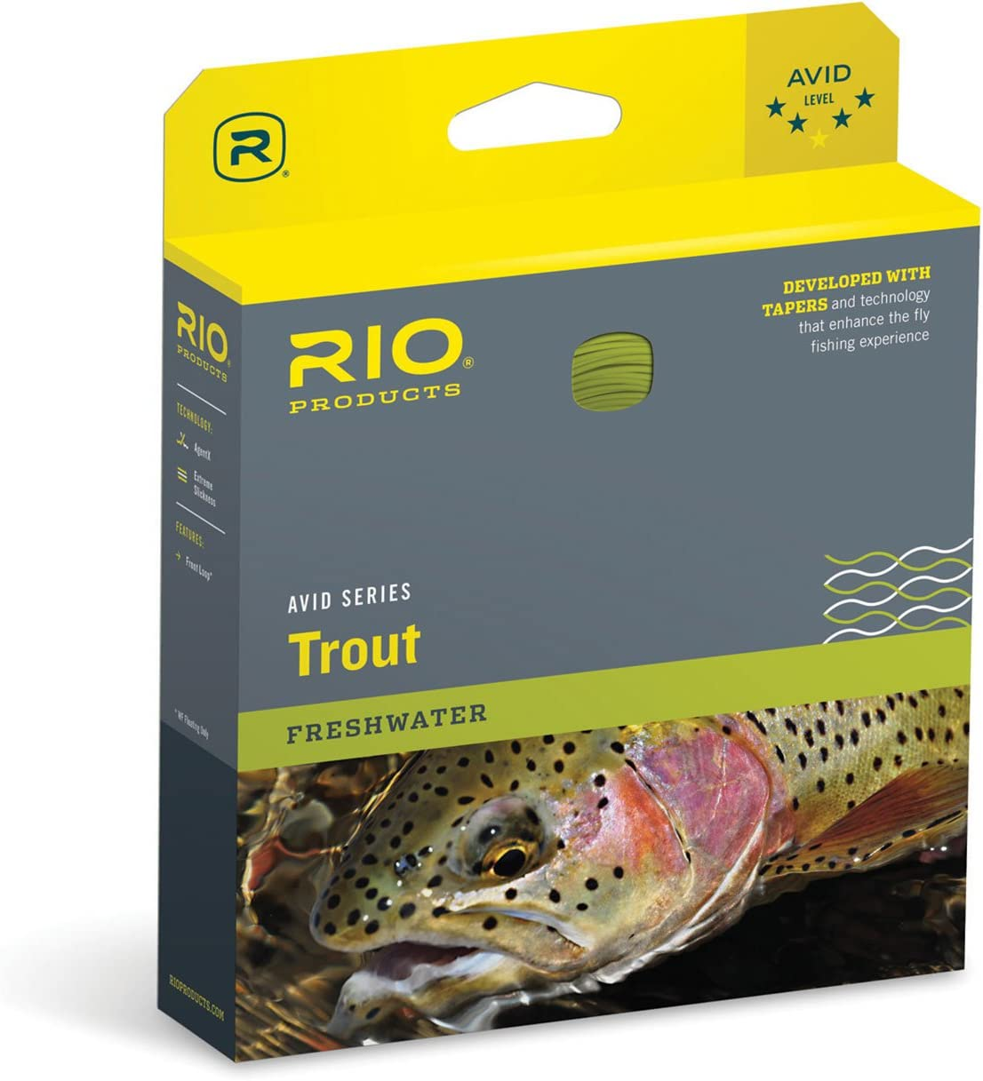 RIO Products Fly Line Avid Trout Wf4F Pale Yellow, Pale-Yellow