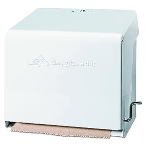 Crank Paper Towel Roll Dispenser by GP PRO (Georgia-Pacific), White, 56201, 10.75