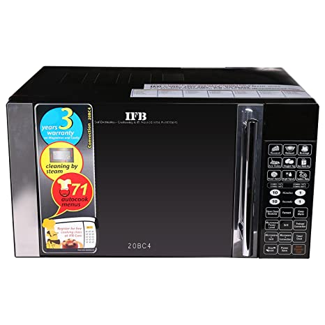 ifb 20bc4 20 litre 1200 watt convection microwave oven black rh amazon in IFB Microwave India IFB Washing Machine Customer Care