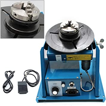 "US 110V Rotary Welding Positioner Turntable Table 2.5/"" 3 Jaw Lathe Chuck 2-20RPM"